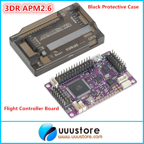 3DR APM2.6 ArduPilot Mega 2.6 External Compass APM  Flight Controller Board with Black Protective Case for Multicopter Airplane<br><br>Aliexpress
