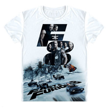 Buy Fate Furious 8 T Shirt Fate Furious Car T-shirt Vin Diesel Dwayne Johnson Shirt brand Summer Men top Tee for $10.81 in AliExpress store