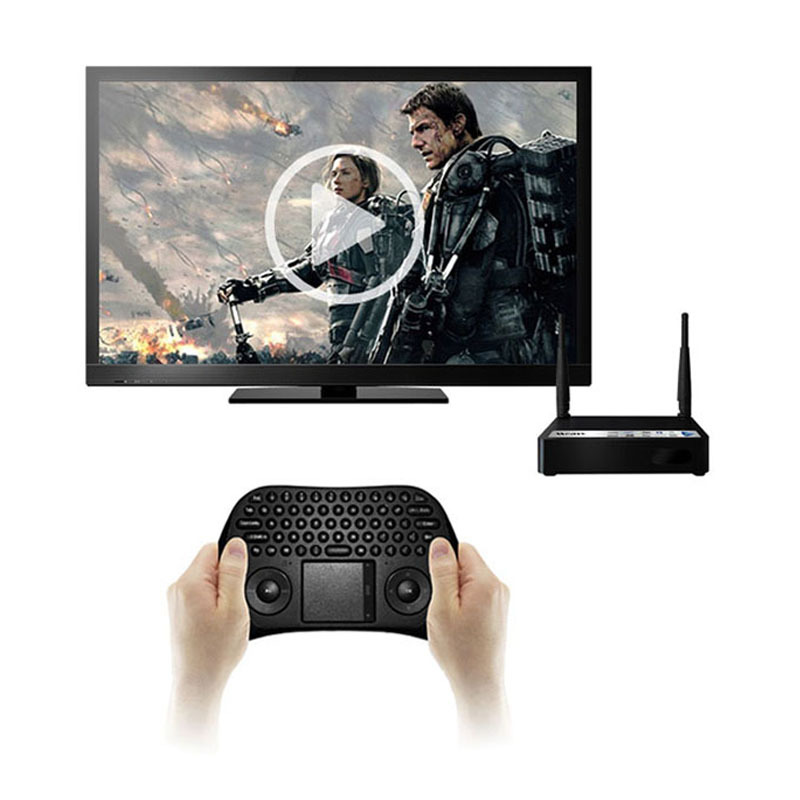 New Measy Black 2.4G RF Wireless Keyboard Fly Mouse with Touchpad for PC Android TV Rainbow(China (Mainland))