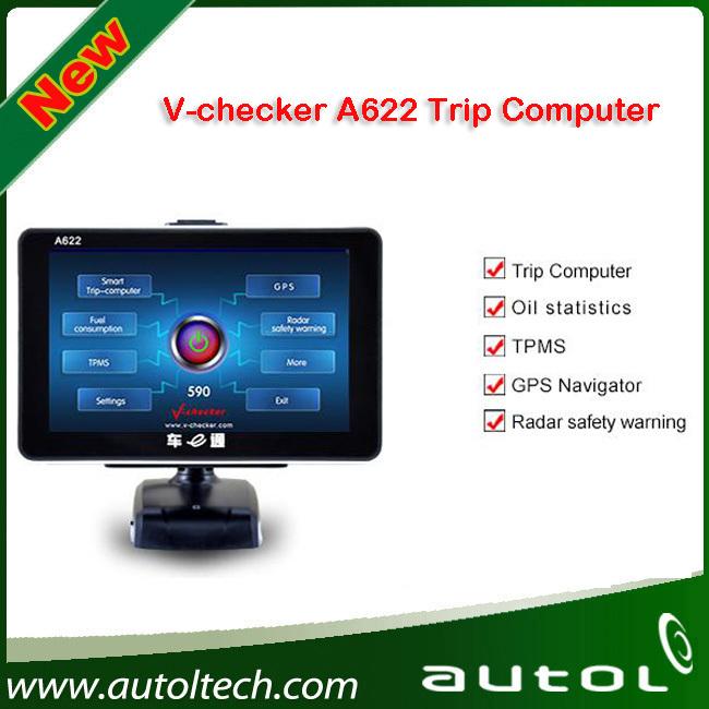 2016 New Generation V-checker A622 Trip Computer & GPS Navigator & TPMS & Oil Statistics Vchecker A622 Auto Diagnostic Tool(China (Mainland))