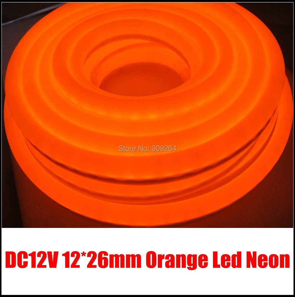 Orange Color Led Neon Flex Dc12v Size 12 26mm 1mm