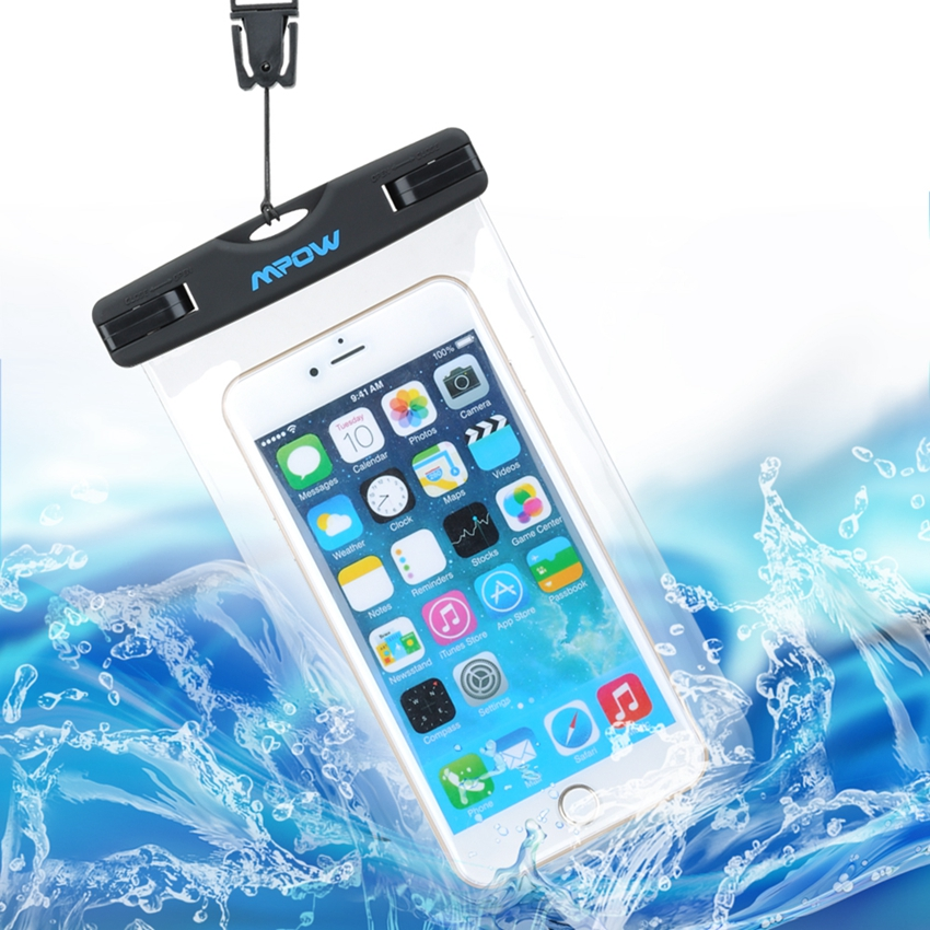 Mpow MBC3 4.5-6 IPX8 Waterproof Phone Bag Underwater Pouch Dirt Proof Case Cover for iphone 6 6s plus Samsung note 4 3 S6 S5 S4(China (Mainland))