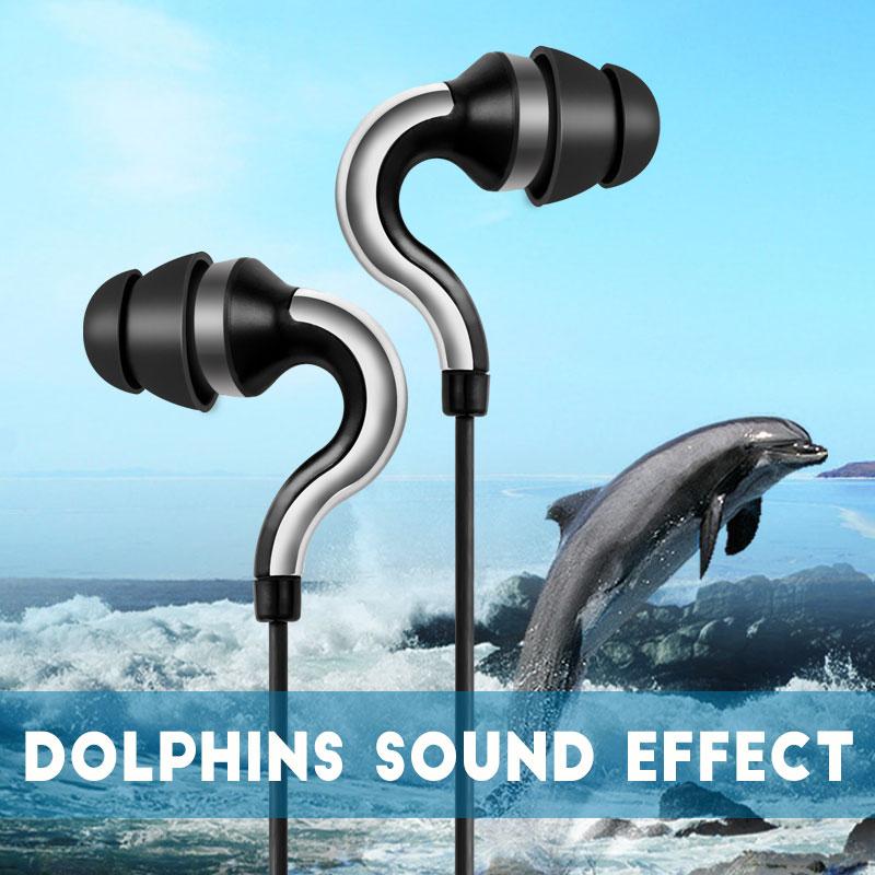 Ipsdi HF107 Dolphin Earphone 3.5mm Jack Wired Headphone Best Bass In-Ear headset Handfree Universal fone de ouvido With Mic(China (Mainland))