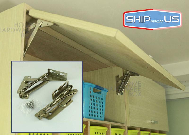 Spring Loaded Hinge Cabinet Door Lift Up Flap Top Support Kitchen Hinges Stay Sprung(China (Mainland))