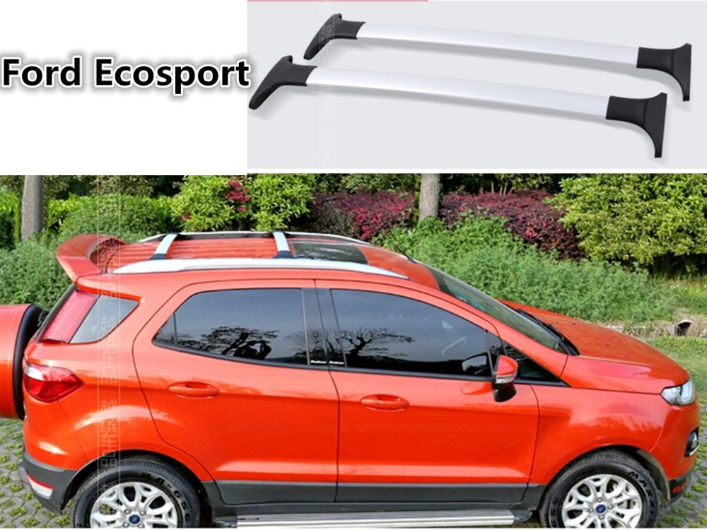 free SUV car 2 pcs/set Roof Rack Luggage rack Roof Racks Cross bar Accessories For 2013-2014 Ford Ecosport Silver Black(China (Mainland))
