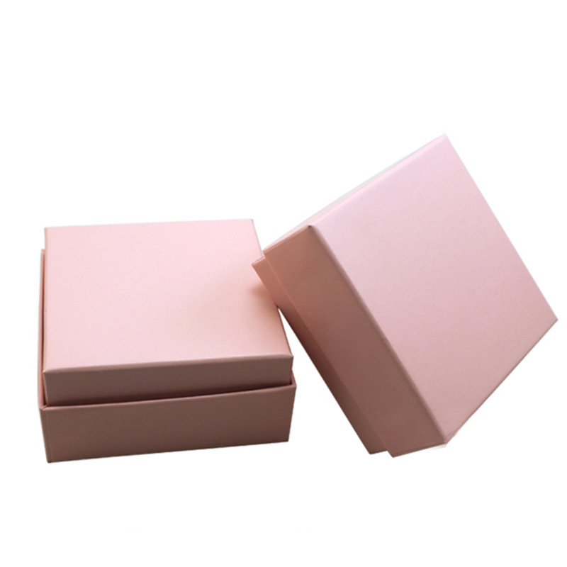 New arrival good quality pink paper packaging for jewellery custom necklace jewelry box 7.3*7.3*3.5cm(China (Mainland))