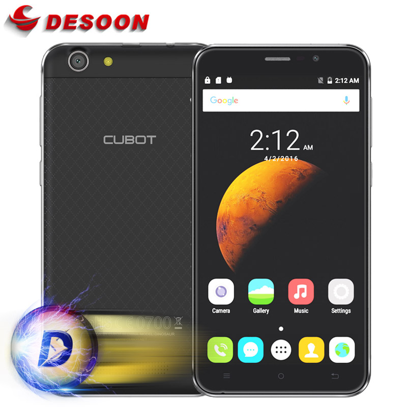 New Original 5.5inch Cubot Dinosaur Mobile Phone MT6735A Cellphone Andriod 6.0 Quad Core 8MP 3GB RAM 16GB ROM 1280x720 4150mAh(China (Mainland))