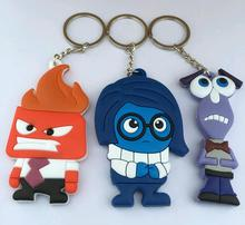 5PCS New 2016 movies Inside Out Catoon pvc Action Figure Model toys Keychain Christmas Pendant Chaveiro Key Ring gift