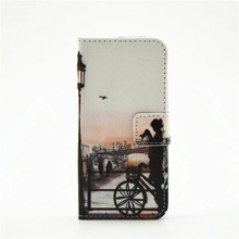Fashion Colorful PU Leather Wallet Case for iphone 6 PLUS iphone 6 plus 5.5″ Eiffel Tower Butterfly Girs Phone Cover Stander