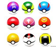1Pcs Pokemon Ball Figures ABS Anime Action Figures Pokemon PokeBall Toys Super Master Pokemon Ball Toys Pokeball Juguetes 7cm