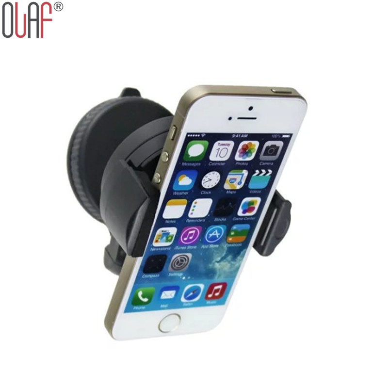 Universal 360degree spin Car Windshield Mount cell mobile phone Holder Bracket stands for iPhone5 4S for samsung Smartphone GPS(China (Mainland))