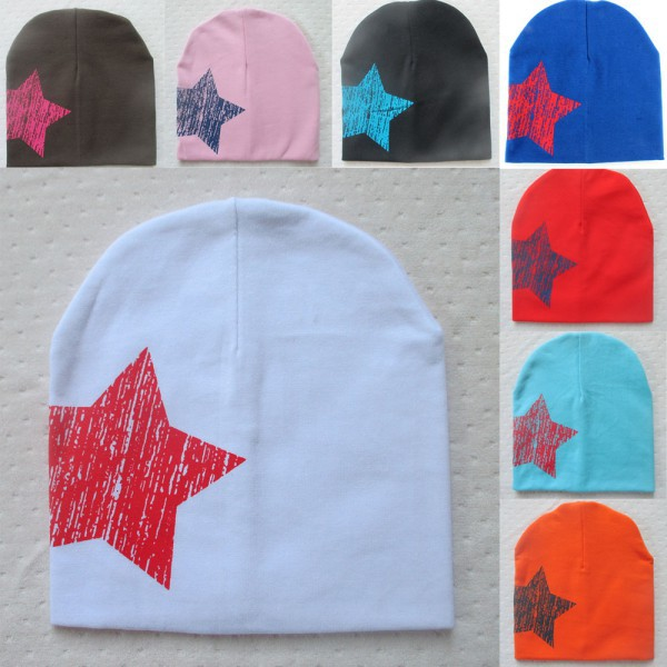 Hot Baby Kid Toddler Cute Stars Printed Hat Soft Warm Cotton Girl Boy Beanie Cap Free