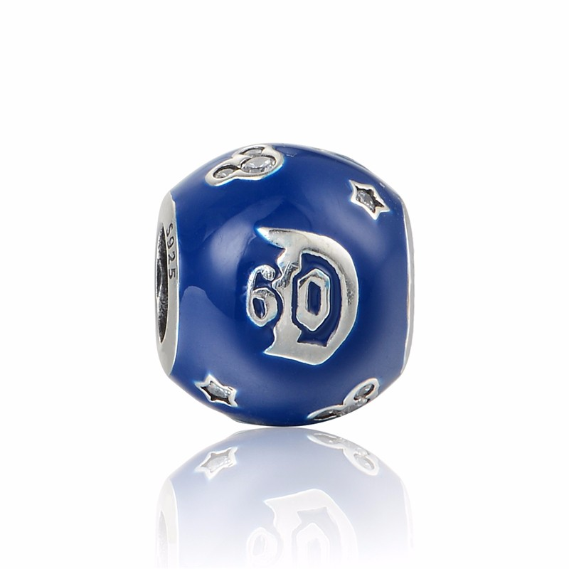 925 Серебряный Land 60th юбилейные Подвески Подходит для брендовых шармов браслет из LW646-(1)