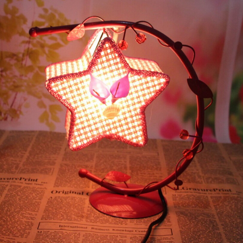 European Retro Iron Salt Crystal Lamps Salt Crystal Lamps Hanging Star Table Lamp With US Plug(China (Mainland))