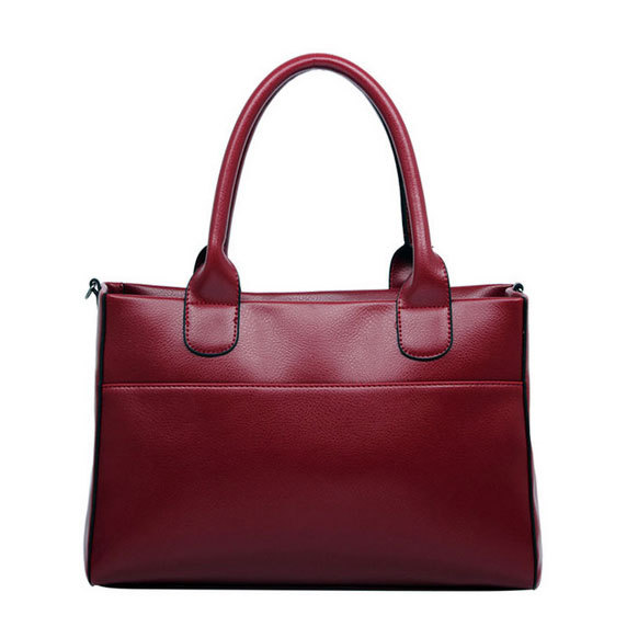 Fashion 2014 Women Smooth Leather Handbags Ladies Favorite Messenger Totes Bags Free Shipping (Colors: Black, Blue, Khaki, Red)(China (Mainland))