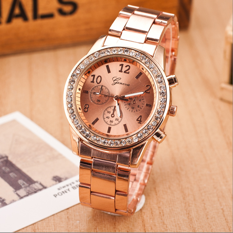 4 Colors Geneva Women Dress Watch Men Gold Full Steel Analog Quartz Watch Ladies Rhinestone Wristwatch relogio feminino LZ060<br><br>Aliexpress