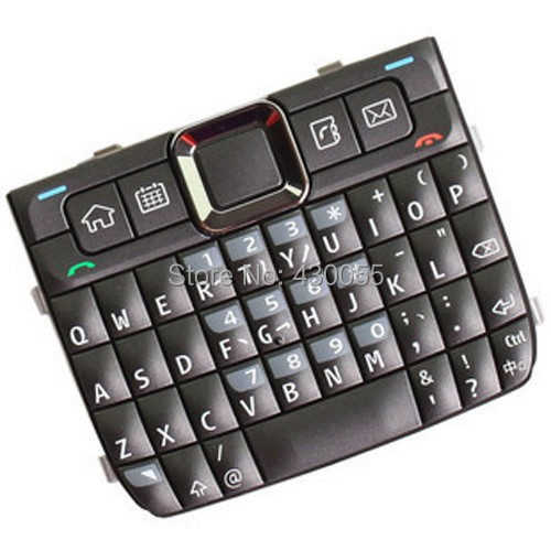 Grey New Original Housing Home Function Main Keypads Keyboards Buttons Cover For Nokia E71, Free Shipping with tracking#(China (Mainland))