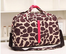 2014 Cheap Female Waterproof Oxford Fabric Travel Bag Leopard Print Tote Bag Traveling Bags(China (Mainland))