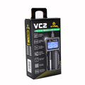 New Arrival XTAR vc2 Smart Battery Charger LCD Display Battery Charger Universal XTAR Charger with usb