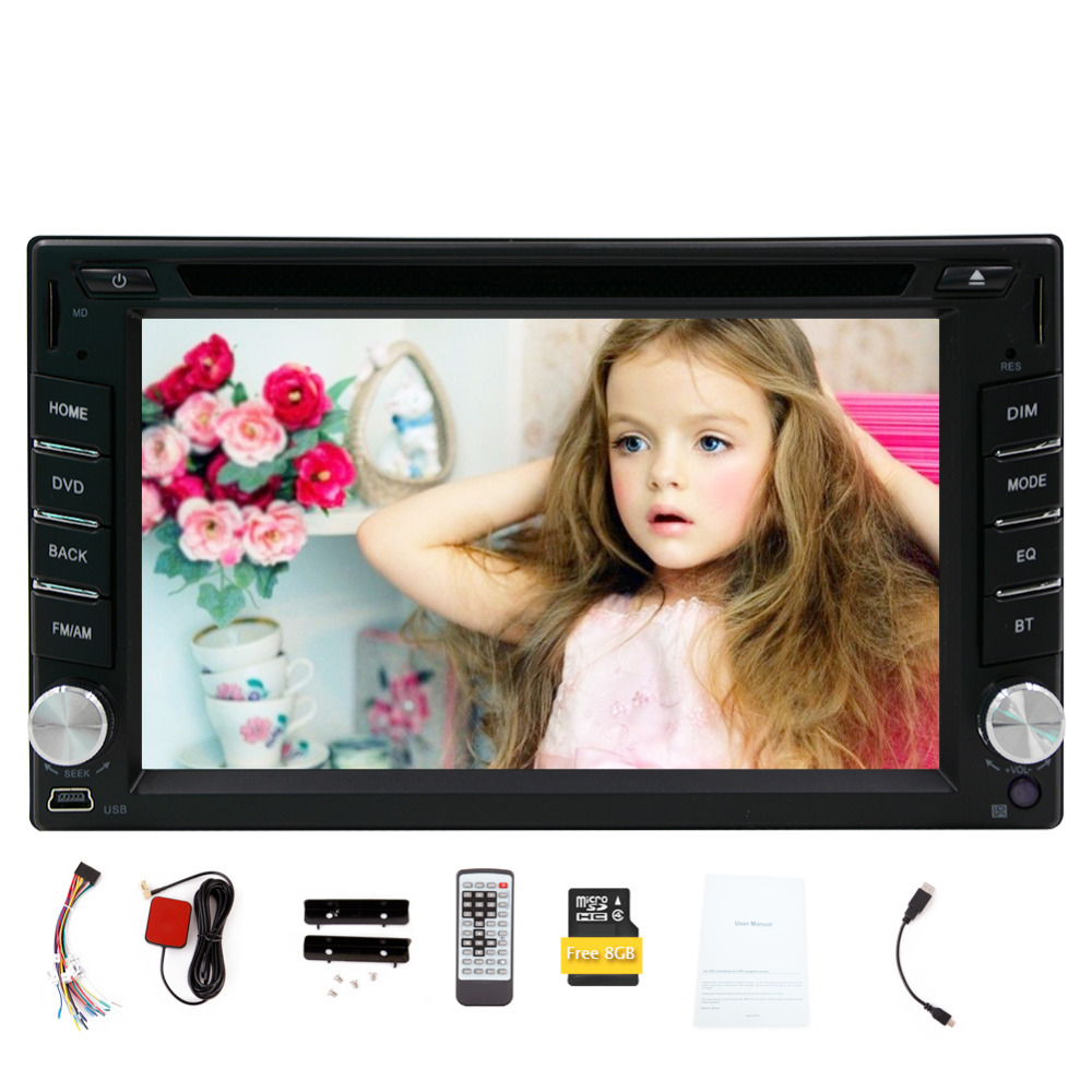 Auto 2din Car Electronic Car DVD Player GPS Navigation Radio Autoradio Tuner PC Video Music Player Monitors for Universal In Das(China (Mainland))