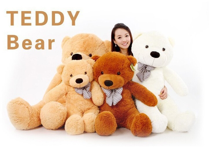 Christmas gifts! 180cm Big size Teddy Bear Skin coat toys un-stuffed dolls for baby birthday gifts (3 colors)(China (Mainland))