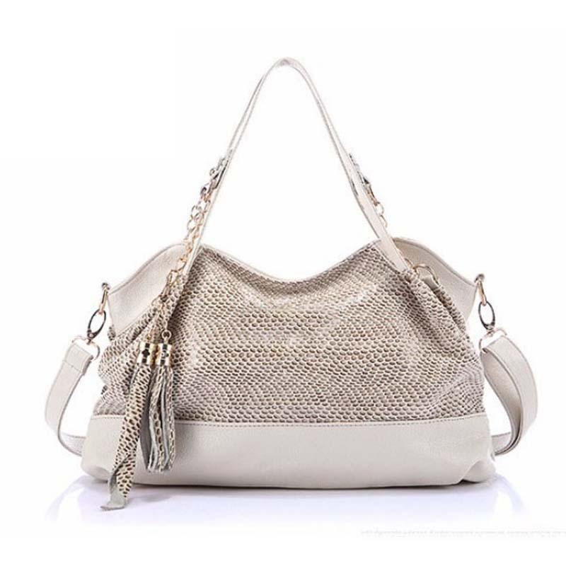 New 2016 Fashion Brand Leather Tassel Women Handbag Sequin Shoulder Bags Women Messenger Bags Totes Bolsas(China (Mainland))