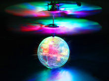 The new induction of aircraft fly ball luminous suspended mini remote control aircraft flying ball transparent shatterproof(China (Mainland))