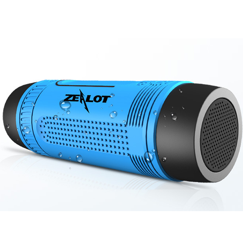 ZEALOT S1 Waterproof Bluetooth Speaker With LED Flashlight Sport Stereo Wireless Portable Speakers 4000mAh Battery TF Card Slot(China (Mainland))