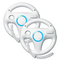 2 x pcs White Steering Mari o Kart Racing Wheel for Nintendo Wii Remote Game