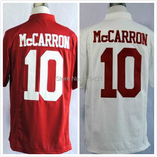 Cheap AJ Mccarron Jersey #10 American Alabama Football Jerseys Free Shipping Embroidery Logo(China (Mainland))