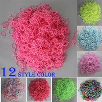 many color style Girls Bands Colorful Children Handmade Circle opp looming Rubber Rubber loom bands Kits DIY Band Bracelet kit