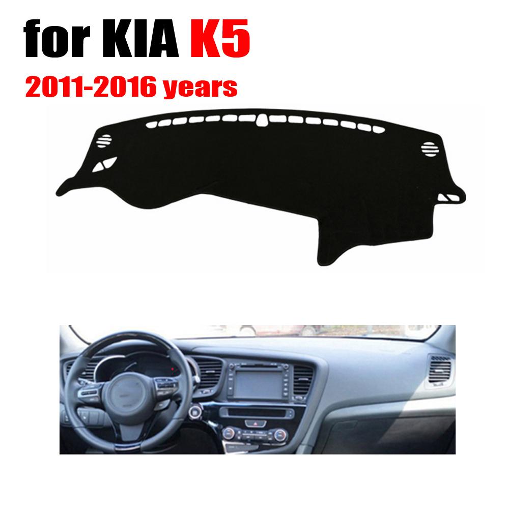Car dashboard cover mat for KIA K5 2011-2016 years Left hand drive dashmat pad dash covers auto dashboard accessories
