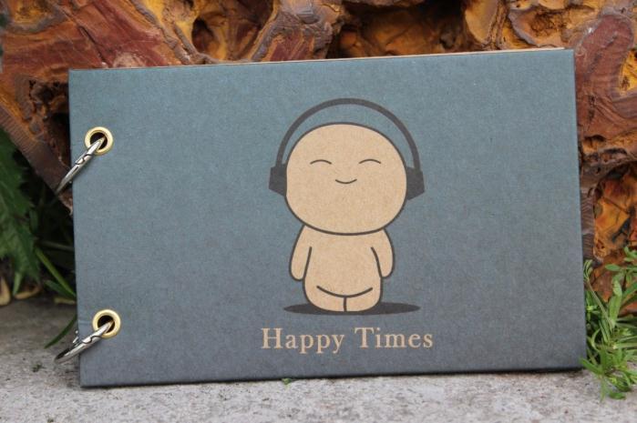 Free Shipping Kids Children Mini 5 Inch Cute Happy Times Handmade DIY Photo Album Scrapbook Albums(China (Mainland))