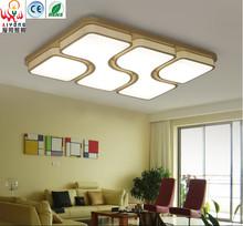 Home improvement energy-saving LED living room lamp rectangular ceiling lamp creative warm bedroom lamp square study lamp(China (Mainland))