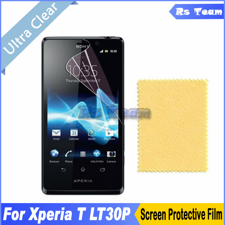 2pcs/lot Clear Front Screen Protector Display Protective Film For Sony Xperia T TL LT30P Screen Guard Film With Retail Package(China (Mainland))