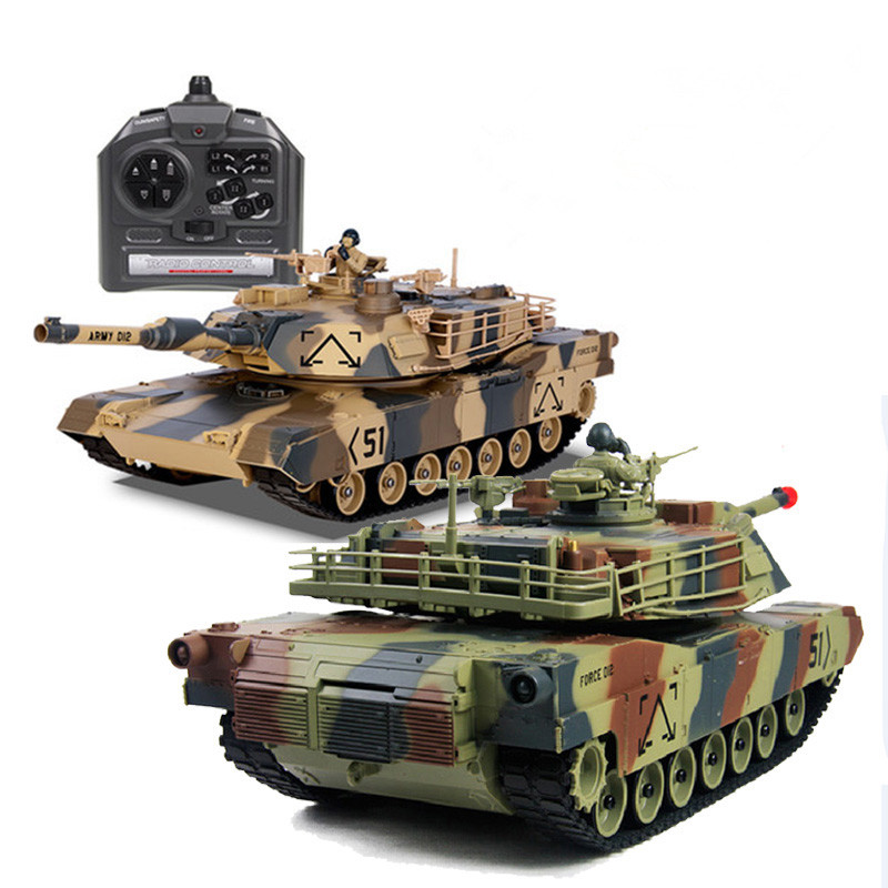Promotional Big Size High Quality Infrared Remote Control RC Tank 1/24 M1A2SEP With Turret Rotation Barrel Up/Down BB Bullet(China (Mainland))