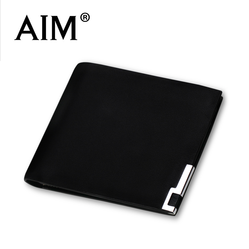 Aim male wallet male short design genuine leather thin wallet mens cowhide small wallet<br><br>Aliexpress