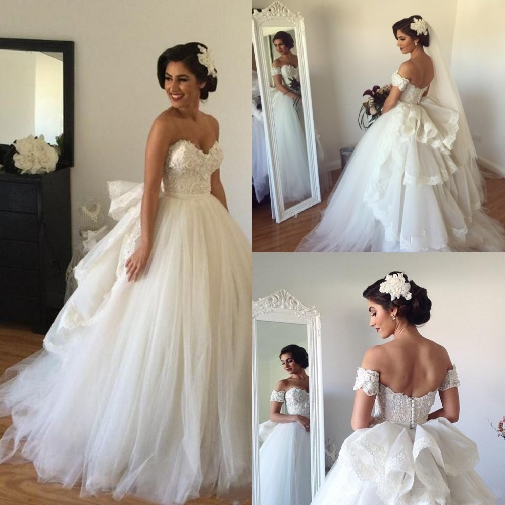 Uniques Design Wedding Dresses Ball Gown Sweetheart