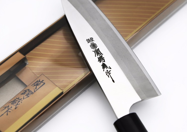 Buy LD 7 inch sashimi knife scabbard German steel kitchen knife one-sided cleaver knife chef knife ebony handle free shiping cheap