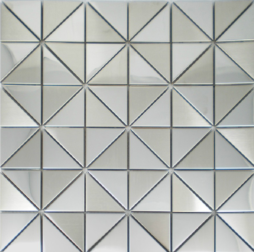 New mosaics stainless steel tile silver decorative kitchen for Fancy bathroom wall tiles