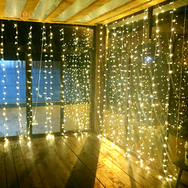 Hot 300LED Curtain lights for wedding Icicle LED String Fairy Light christmas party home decoration 3m*3m 3mx3m 220V 110V(China (Mainland))