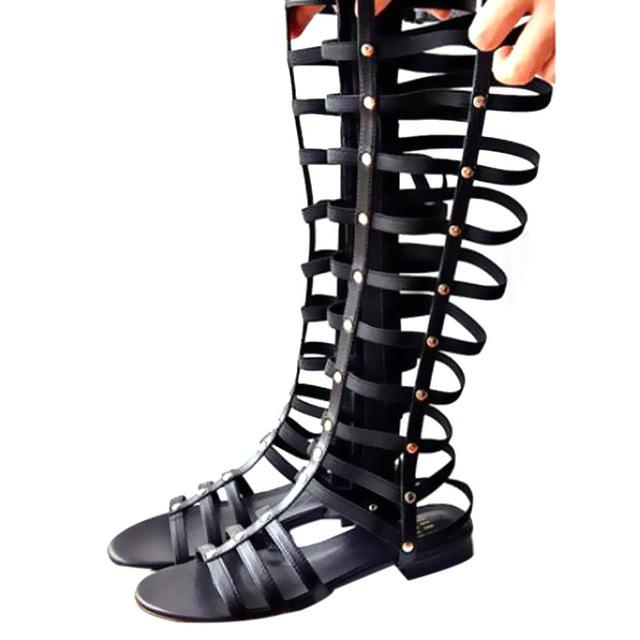Летние сандалии женщин 2016 нового сексуального открытым носком 40 см длины гладиатор ...