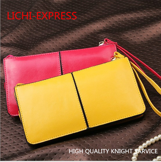 2015 top grade wallet high quality meticulous wallet six holder leather wallet women's long bag New arrival wholesale Brand bag(China (Mainland))