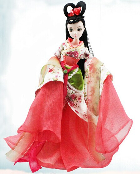 Free shipping Bobbi doll doll Kerr China costume myth Begonia Fairy Girl Gift(China (Mainland))