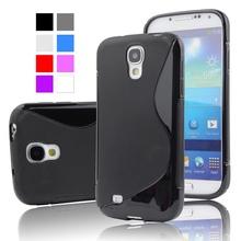 S4 против небуксующий гель тпу s-линии тонкий чехол для Samsung Galaxy SIV S4 i9500 мобильный телефон резина защитная крышка кожи