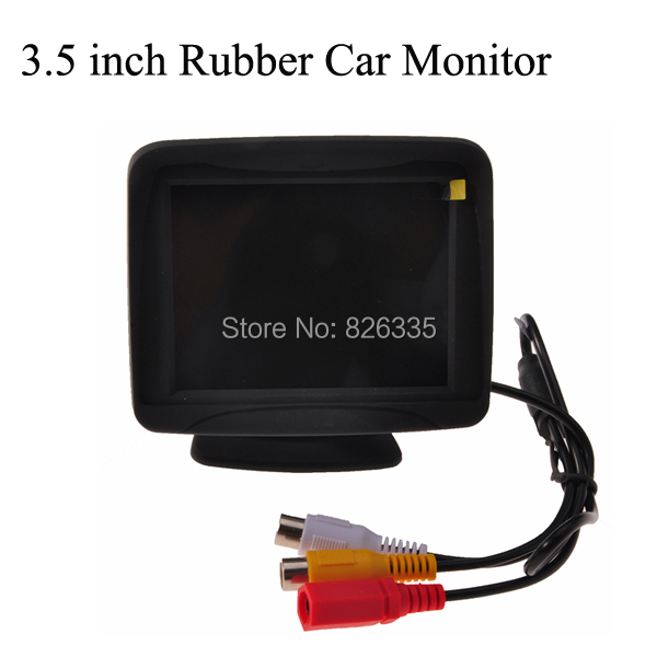 3.5 inch Rubber TFT LCD Color Screen Car Monitor Auto for Reverse Rear View Backup Camera DVD(China (Mainland))
