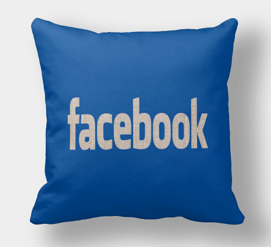 Facebook pillow case, logo pillowcase, simple social media logo Facebook throw pillow case pillow cover no core(China (Mainland))