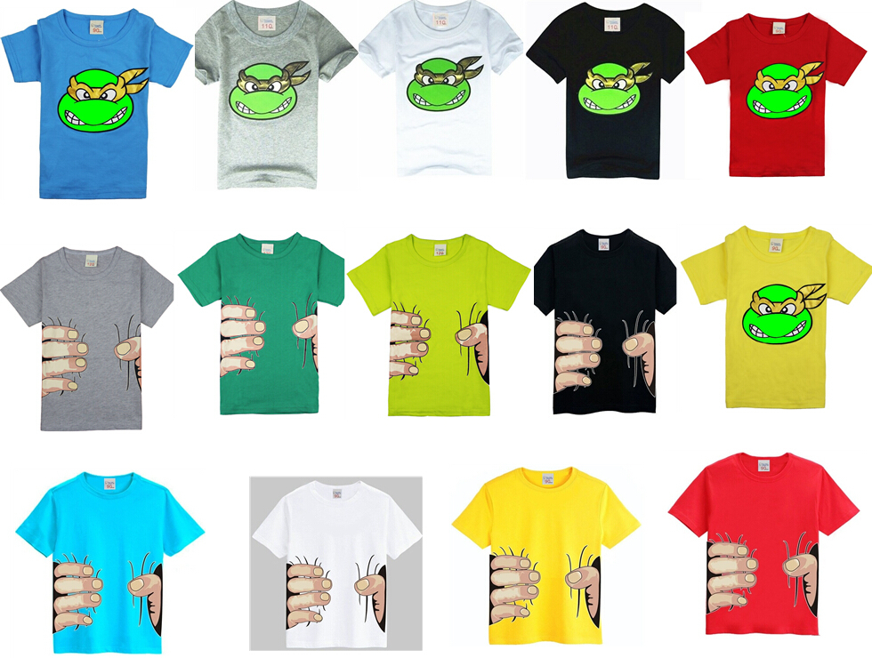 2015 New!children clothes boys girls unisex t shirt multicolor optional cartoon children t-shirts 100% cotton children's t-shirt(China (Mainland))