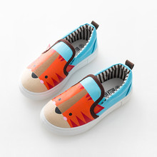 Children Shoes Boys Sneakers 2016 Autumn New 3 Kinds Casual Canvas Girls Cute Shoes Kids Cartoon Shoes For Boys&Girls EU26-30(China (Mainland))