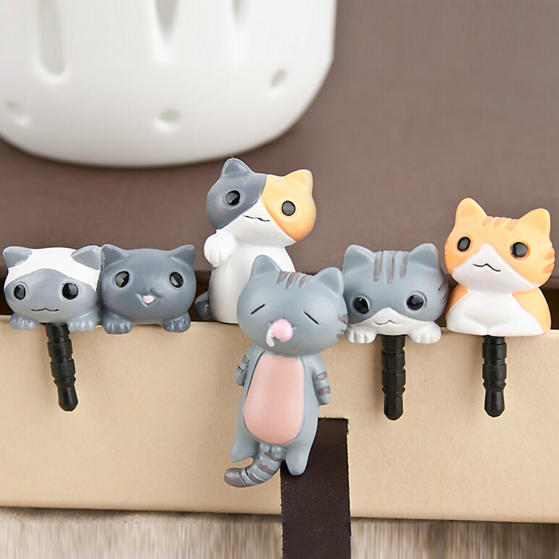 6pcs/set Dust Plug Universal 3.5mm Cell phone plug charms cap For iphone 4s 5s 5c samsung note 3 S4 ipad mini ZH222